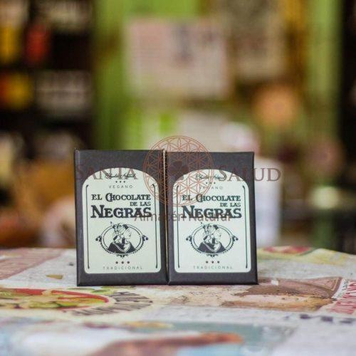 "Chocolate Vegano ""Las Negras"" 100 g. - Santasalud.cl"