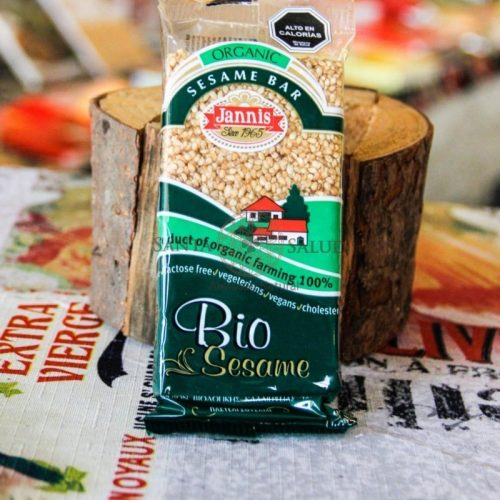 "Barrita sésamo miel ""Janis"" orgánica sin gluten 50 g. - Santasalud.cl"