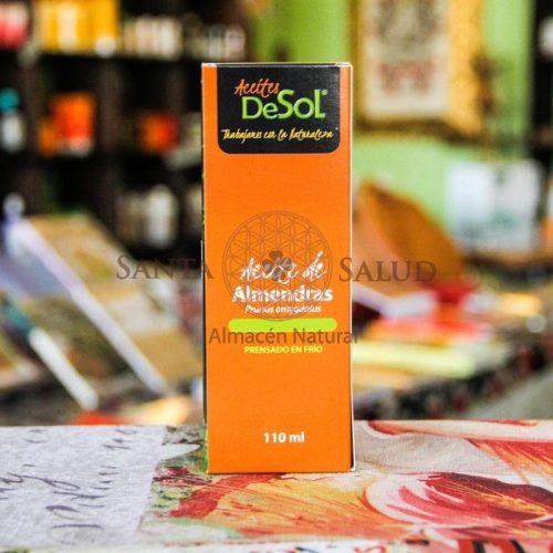 """Aceite de Almendras """"de Sol"""" 110 ml. - Santasalud.cl"""