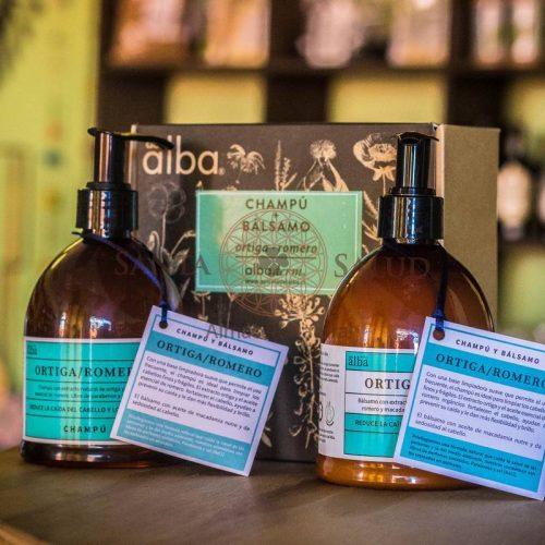 """Pack de Shampoo y Bálsamo Ortiga Romero """"Apícola del Alba"""" - Santasalud.cl"""